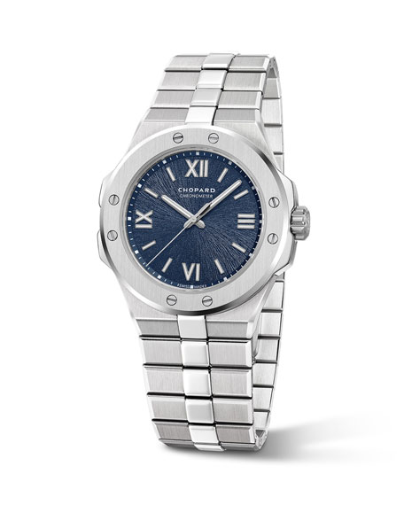 Image 2 of 3: Chopard 36mm Stainless Steel Watch w/ Bracelet Strap, Blue