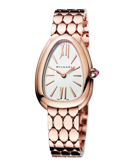 BVLGARI Serpenti Seduttori 33mm Watch w/ Bracelet, Gold
