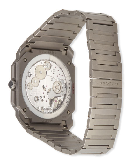 Image 3 of 3: BVLGARI Men's 42mm Octo Finissimo Chronograph Watch in Titanium