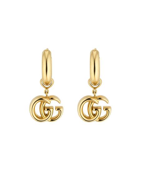 Gucci 18k GG Running Drop Earrings