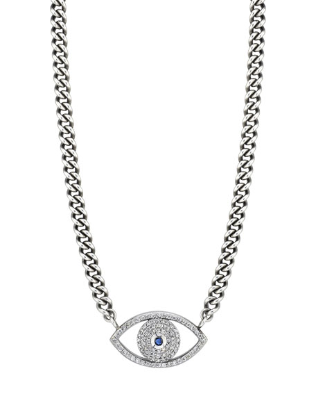 Sheryl Lowe Diamond Evil Eye Pendant Necklace