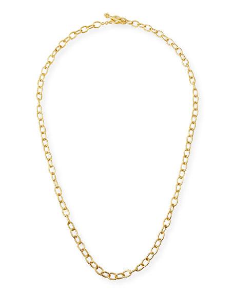 Elizabeth Locke 19k Gold Small Volterra Necklace