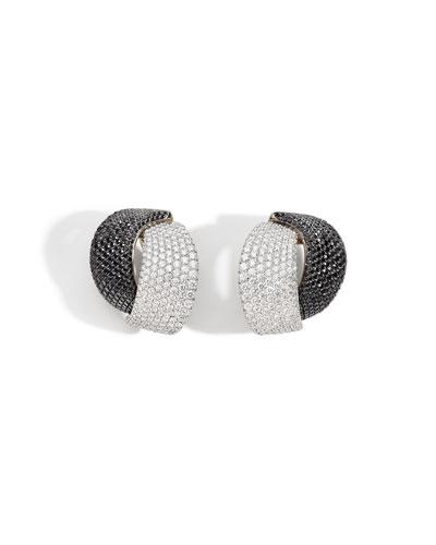 Abbraccio 18k White Gold 2-Tone Diamond Earrings