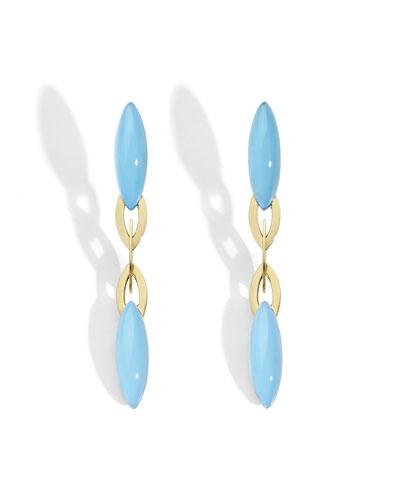 18k Turquoise Dangle Earrings