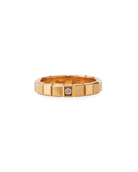 Chopard 18k Rose Gold 1-Diamond Ice Cube Ring