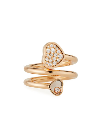 Chopard Happy Hearts Pave Diamond Coil Ring