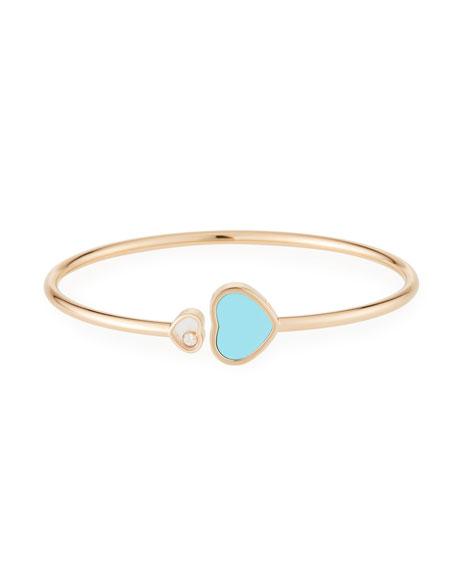 Chopard Happy Hearts Turquoise 1-Diamond Bracelet