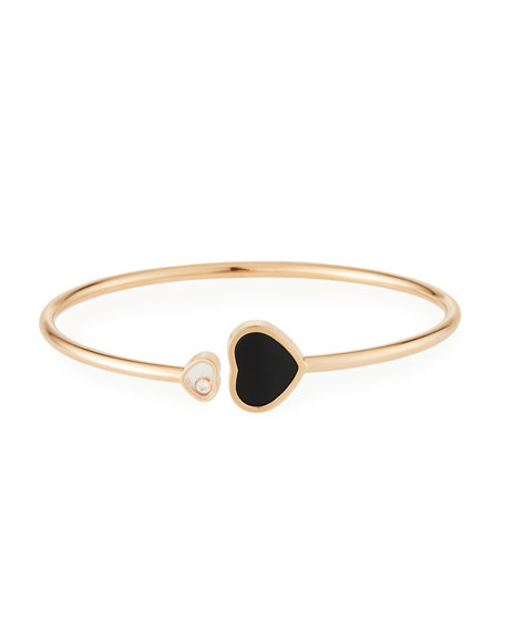 Chopard Happy Hearts Black Onyx 1-Diamond Bracelet