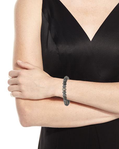 Sheryl Lowe 10mm Black Quartz Bracelet w/ Diamond Donut