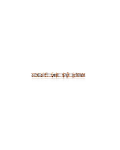 Stevie Wren 14k Rose Gold Diamond Baguette Eternity Ring, Size 7