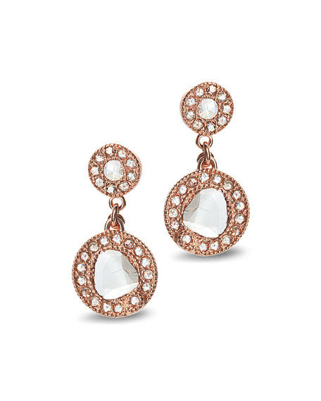 COOMI Eternity 18k Rose Gold Diamond Drop Earrings