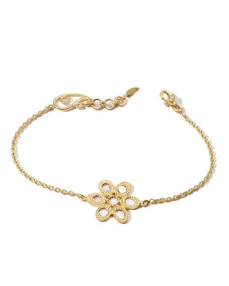 COOMI Affinity 20K Diamond-Flower Chain Bracelet