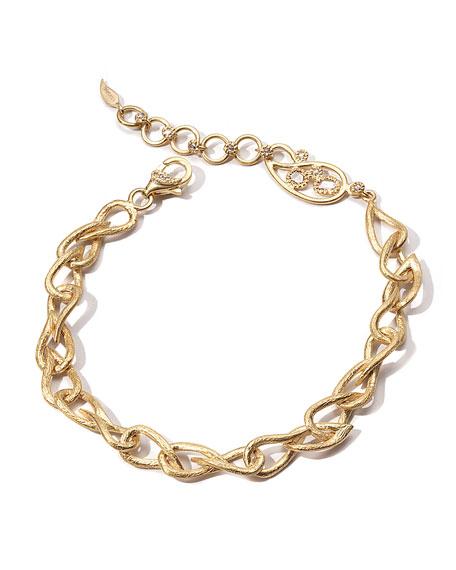 COOMI 20K Paisley-Link Bracelet w/ Diamonds