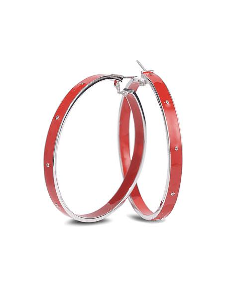 """COOMI Vitality Enamel Hoop Earrings, 2"""""""