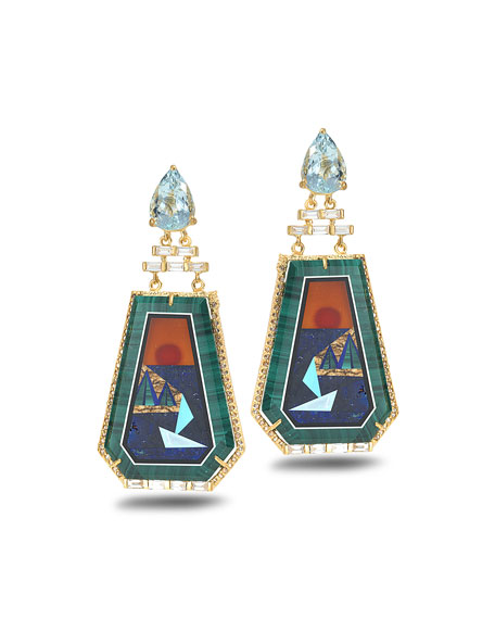COOMI Affinity 20K Sunset Statement Earrings