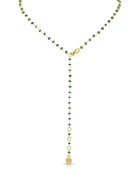 Dominique Cohen 18k Opal Bamboo-Link Necklace