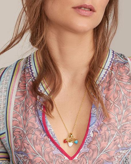 Tamara Comolli MIKADO BOUQUET 18k Yellow Gold Cacholong Pendant
