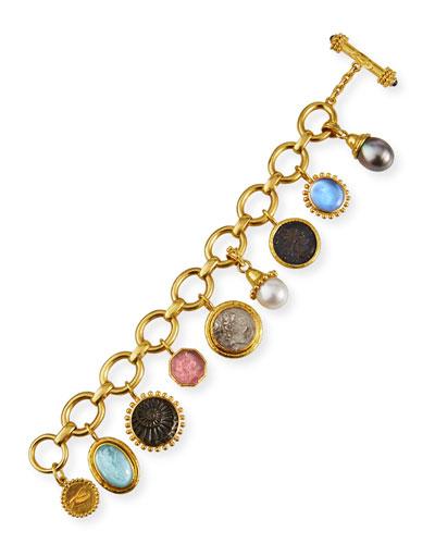 19k Medium Charm Bracelet