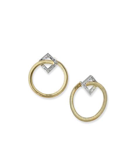 Nikos Koulis Feelings 18k Diamond Forward-Facing Hoop Earrings