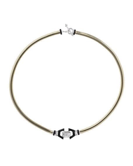 Nikos Koulis Feelings 18k Black Enamel Diamond Necklace