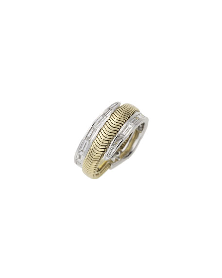 Nikos Koulis Feelings 18k Baguette-Diamond Ring