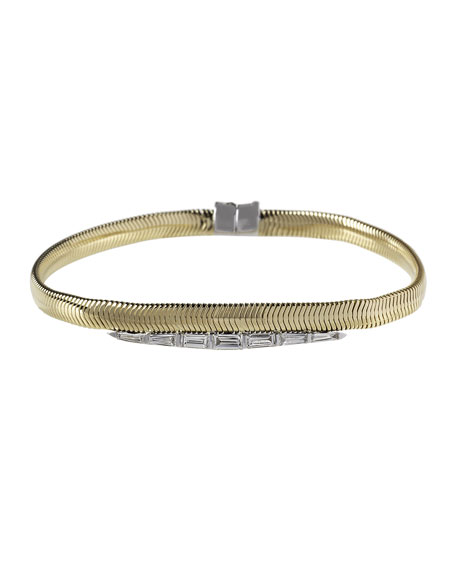 Nikos Koulis Feelings 18k Diamond Baguette Bracelet