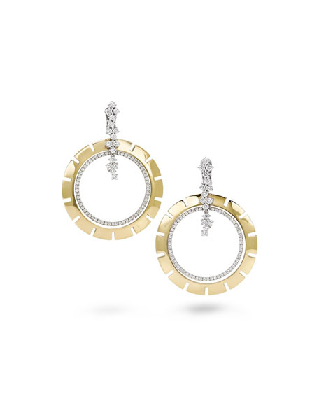 Miseno Vesuvio 18k Yellow Gold Diamond Hoop-Drop Earrings