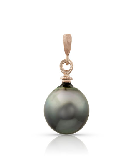 Dominique Cohen 18k Rose Gold Tahitian Baroque Pearl Charm