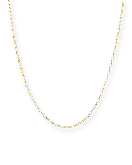 """Jude Frances 18k Yellow Gold Station Chain Necklace, 32""""L"""
