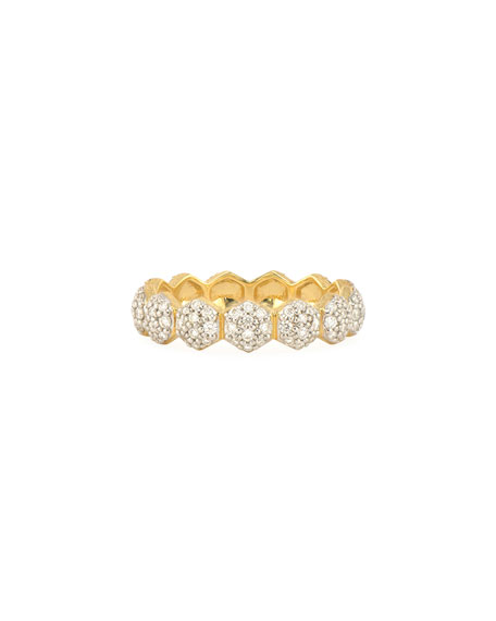 Jude Frances Lisse 18k Diamond Hexagon Band Ring, Size 7