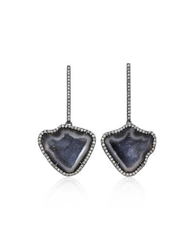 One-of-a-Kind Geode Diamond-Pave Earrings