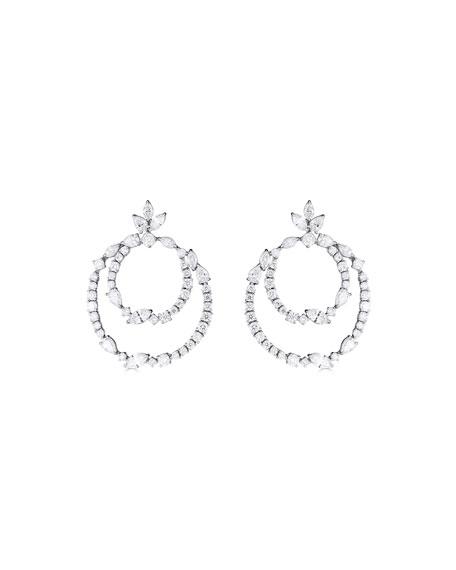 ZYDO 18k White Gold Diamond Multi-Hoop Earrings, 8.64tcw
