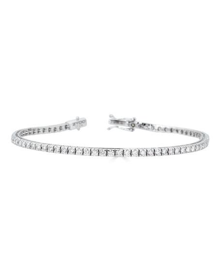 ZYDO 18k White Gold Diamond Tennis Bracelet, 2.74tcw