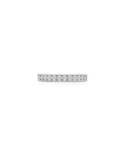 Platinum Diamond Eternity Ring  Size 4.5