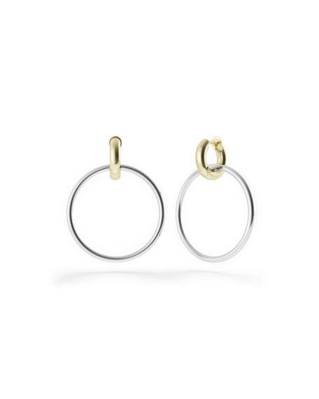 Spinelli Kilcollin Casseus Two-Tone Hoop Drop Earrings
