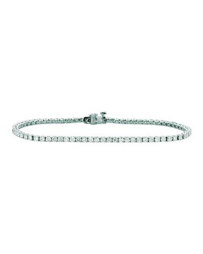 18k White Gold Diamond Tennis Bracelet  2.95tcw