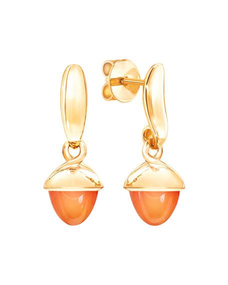 Tamara Comolli Mikado Flamenco 18k Yellow Gold Carnelian Earrings