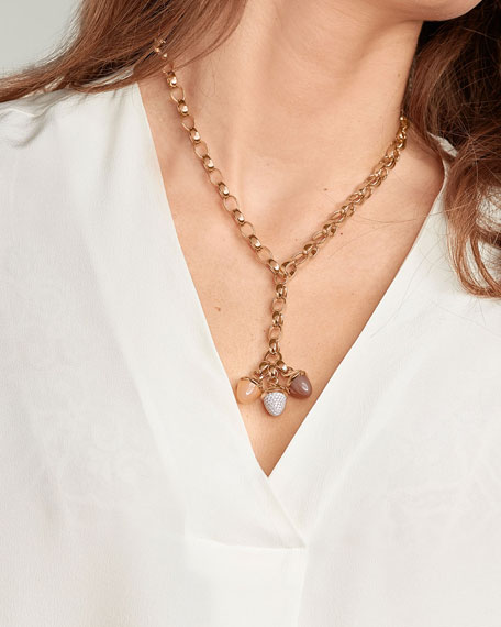 "Tamara Comolli Signature 18k Rose Gold Chain-Link Necklace, 22""L"