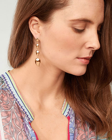 Tamara Comolli Signature Wave 18k Rose Gold 4-Drop Earrings