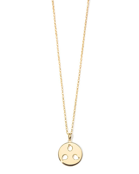 Tamara Comolli 18k Yellow Gold Medium Sand Dollar Diamond Pendant
