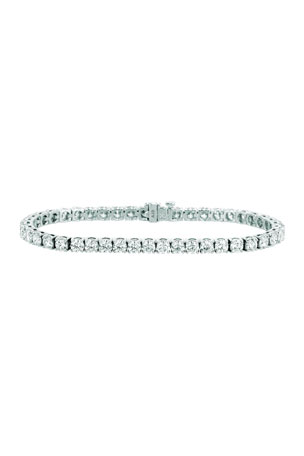 NM Diamond Collection 18k White Gold Diamond Tennis Bracelet, 8.55tcw