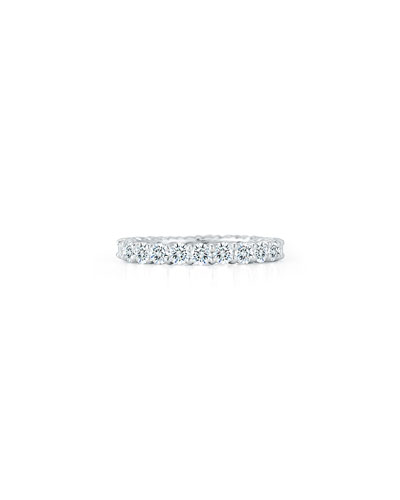 Platinum Round Diamond Eternity Ring  2.07tcw