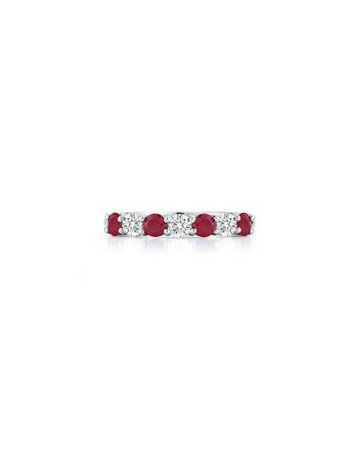 Platinum Ruby/Diamond Ring