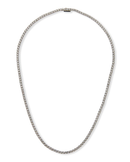 NM Diamond Collection 18k White Gold Diamond Tennis Necklace, 11.78tcw
