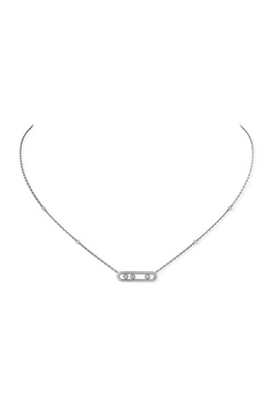 Messika Baby Move Diamond Necklace in 18K White Gold