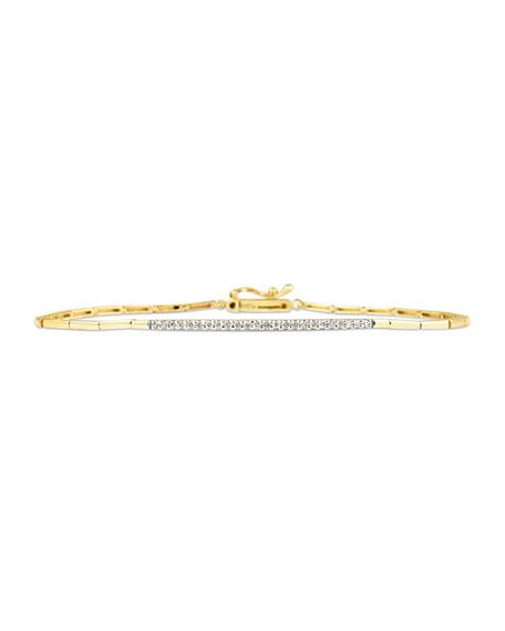 Stevie Wren 14k Yellow Gold White Diamond Tennis Bracelet