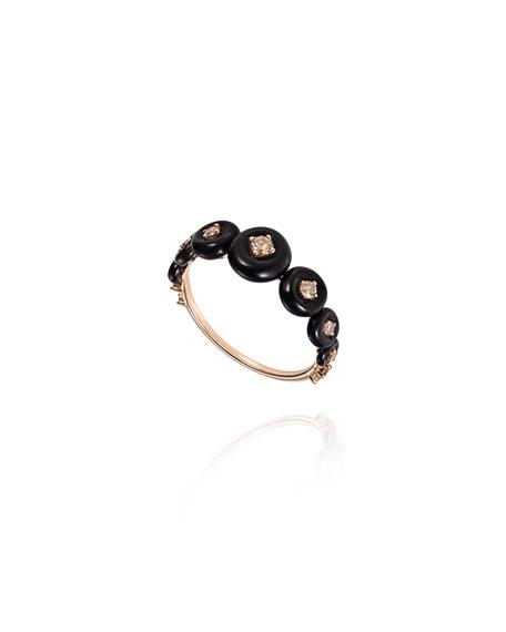 Fernando Jorge 18k Rose Gold Small Brown Diamond Ring, Size 6.75