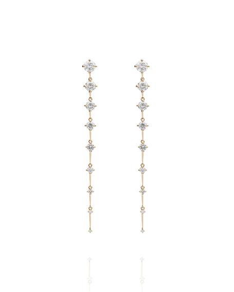Fernando Jorge Sequence Long 18k Gold Diamond Earrings