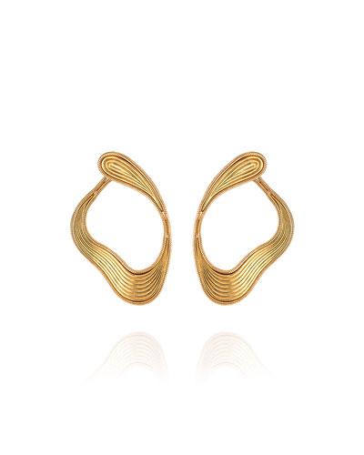 Stream Lines 18k Loop Earrings