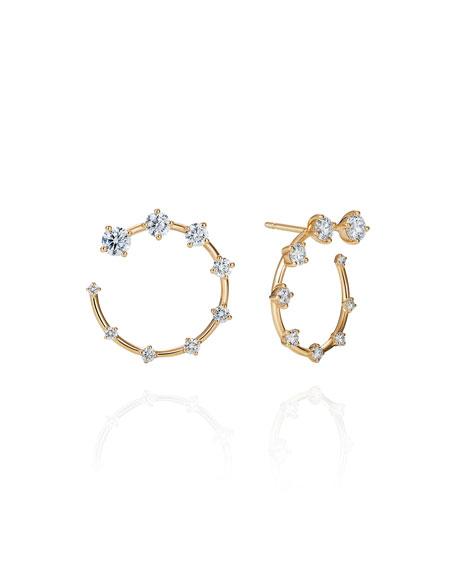 Fernando Jorge Sequence 18k Diamond Small Circle Earrings